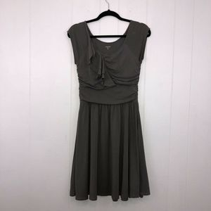 Garnet Hill Piazza Knit Dress Gray XS